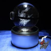 Darkrai Design Figurines Crystal Poke Ball 3D Pokemon Miniatures Graduation Anniversary Gifts