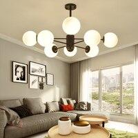 Modern black art deco ball pendant lights iron glass light E27 LED hanging lamp for bedroom kitchen restaurant bar study parlor