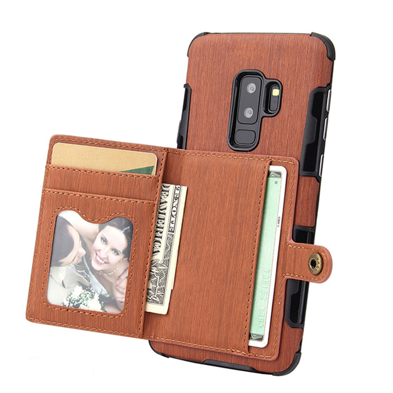 Leather <font><b>Flip</b></font> <font><b>Case</b></font> For <font><b>Samsung</b></font> Galaxy S8 S9 S10 E Plus A10 A20 A30 A50 A70 A5 A7 <font><b>J7</b></font> <font><b>2017</b></font> J4 J6 J8 2018 Card Holder Wallet Cover image