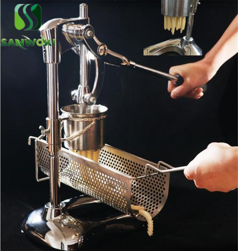 Super Long French Fries Makers Machines Long Potatoes Fried Chips Extruders Manual Long Fries Maker Machine