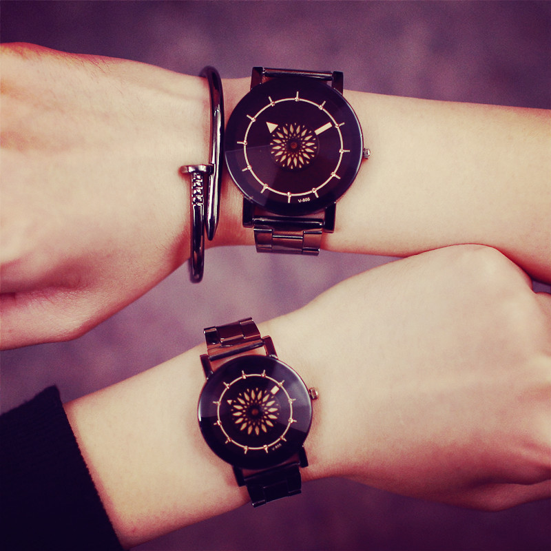 Original  Watch Turntable Unique Design Clock Men Women Fashion Luxury Diamond Mirror Watches Couple quartz-Watch LZ2195