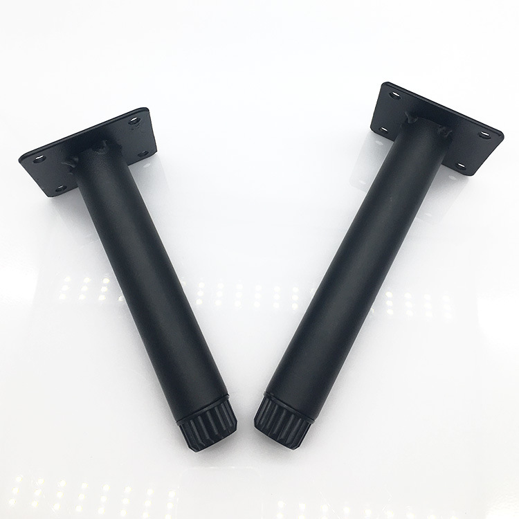 Metal Legs Furniture Support Black Iron Straight 14/ 16cm Cabinet Wood Table Feet Furniture Accessories 1/ 2/ 4/ 6/ 8pcs