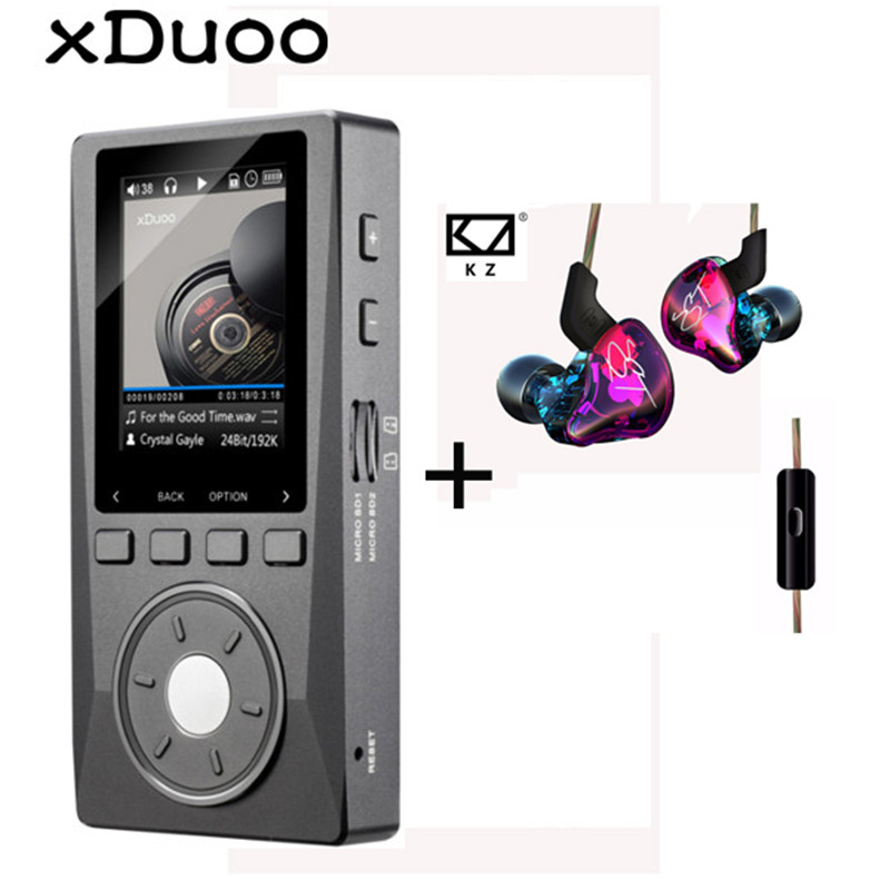 XDUOO X10 MP3 Professional Audio Player Lossless HIFI Music MP3 DAC DSD High Resolution Player 2.0 Inch Screen 256G 192KHz/24Bit