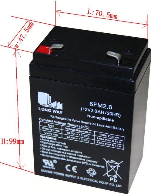 6fm2 6 12v2 6ah Ups Emergency Medical Equipment Free Maintenance Longway Speaker Sealed Lead Acid Rechargeable Battery