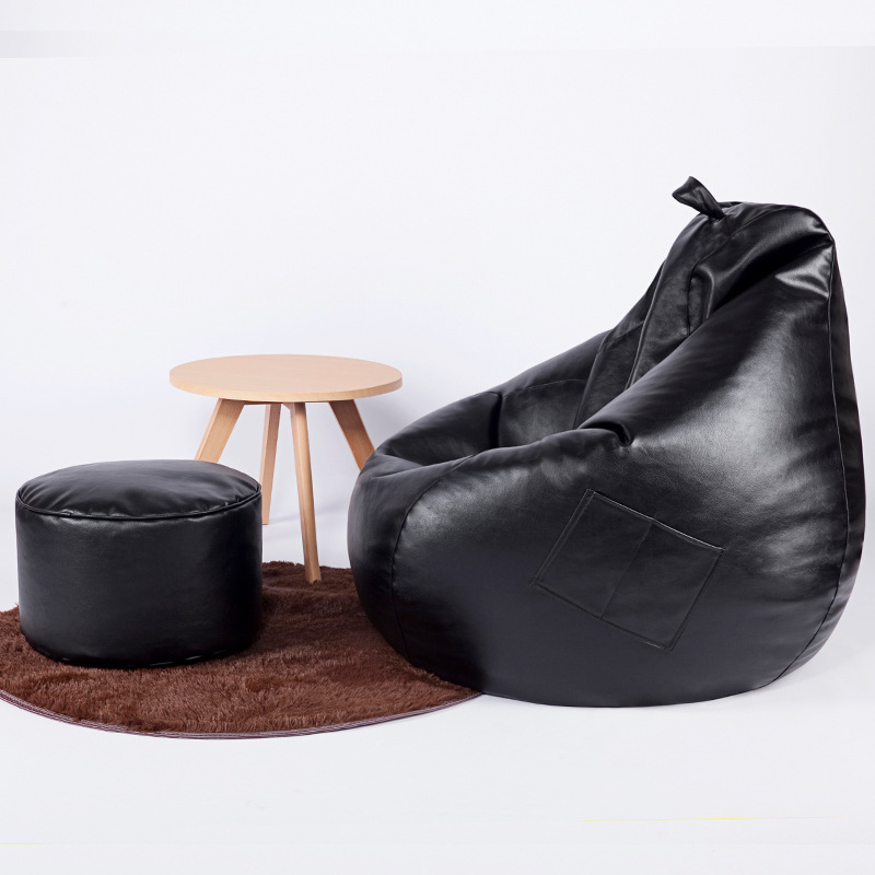 Moderne PU cuir haricot sac canapé salon chambre canapé-lit paresseux Tatami haricot sac chaise maison loisirs simple canapé avec remplissage