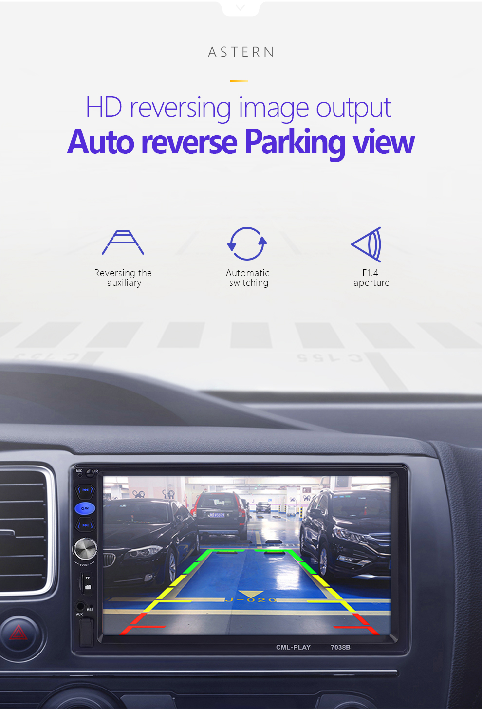 """Image 5 - 2 din car radio mirror link Android 9.0 Touch Screen Digital Display 7"""" HD Player MP5 Bluetooth Multimedia USB 2din Autoradio-in Car Radios from Automobiles & Motorcycles"""