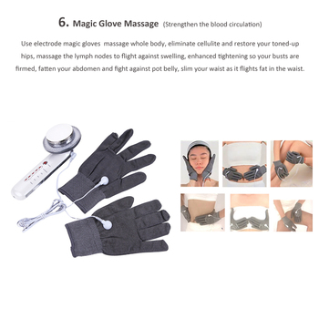 Electric Microcurrent EMS Gloves Electrode Pads Facial Care Body Slimming Ultrasonic Cellulite Remover Machine For Weigh Loss