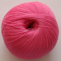 Sale 6balls X 50g LACE Pure High Quality Cashmere Yarn Knitting Hot Pink 009