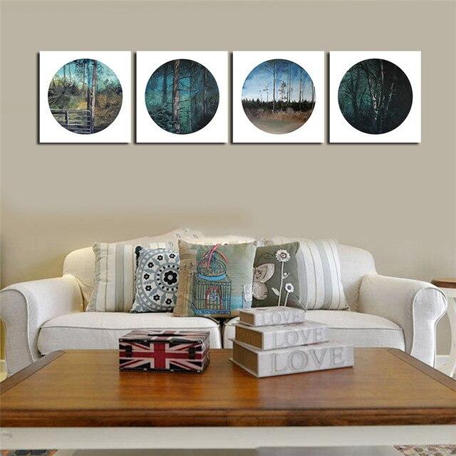 ween cuadros modular arbres forestiers avec encadre mur photo pour salon moderne tableau peinture peinture sur