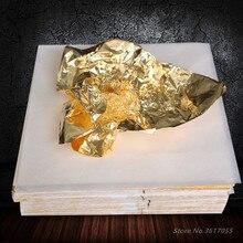 100-500pcs Art Craft Paper Imitation Gold Copper Foil Papers Leaf Leaves Sheets Gilding DIY Craft Home Decor Design Paper