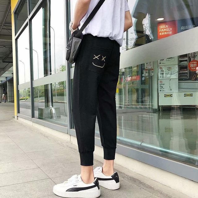 Loose Men's Pants Solid Cool Outdoor Streetwear Fashion Pants New Male Summer Soft Pants 13