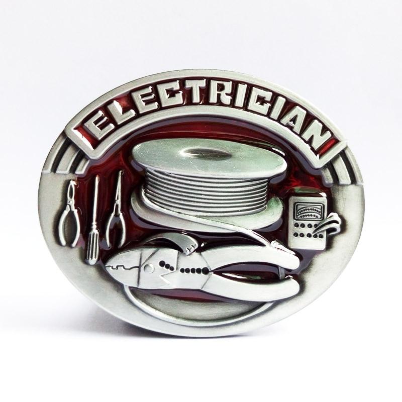 T-DISOM Groothandel Elektricien Gesp Gloednieuwe Westerse Gesp met Goed Plating Geschikt Voor 4 cm Breedte Riem Dropship