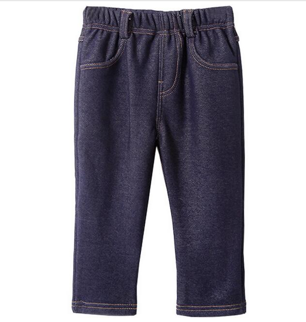Children Jeans font b Boys b font plus velvet font b Denim b font trousers Baby