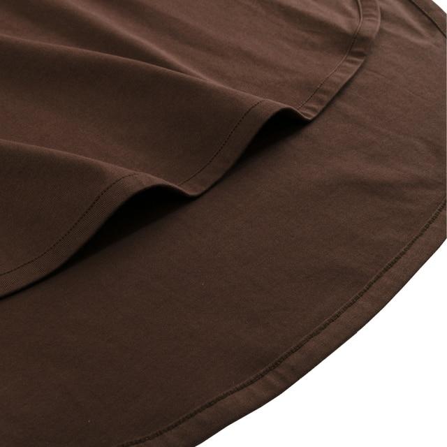 100% cotton Loose Casual Summer Short Sleeve Female T shirt Women  asymmetric O-neck Tee Tops M30326 5