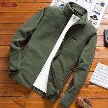 Man Fleece Tactical Softshell Jacket outwear Windbreaker Thermal Sporting male T