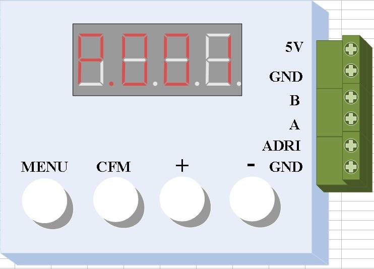 DMX address writer for DMX512AP-N parallel single line driver chip