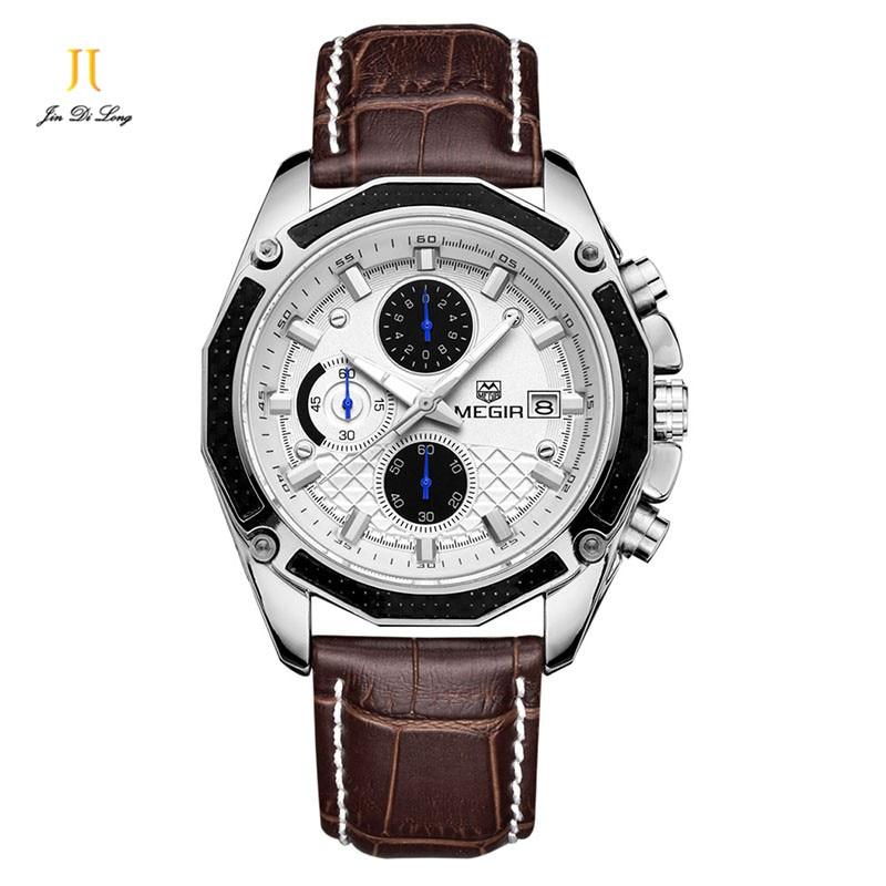 2018 Luxury Brand Men Leather Business Wristwatches Man Casual Waterproof Watch Quartz Watches relogio masculino relogio masculino bos brand new luxury watch men fashion casual waterproof quartz watches genuine leather wristwatches hot gift