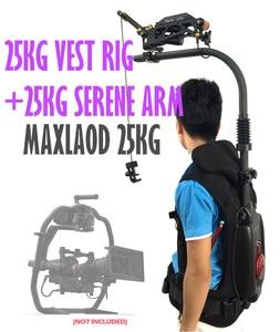 Image 3 - 10 25KG jak EASYRIG Gimbal wsparcie kamizelka rig łatwe rig z flowcine serene ramię wędkarskie dla DJI Ronin 3 osi gimbal czerwony