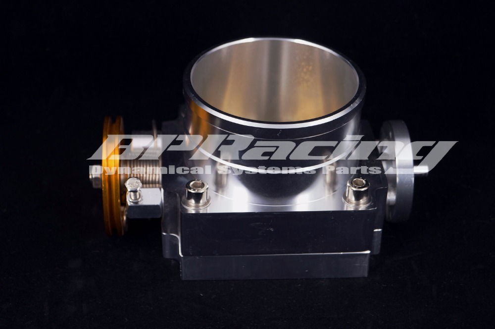 90mm Alloy Aluminum Universal CNC Billet Intake Throttle Body 3 5 inch Silver