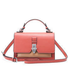 Simple and light fashion unique design leather women's handbags soft face with cover shoulder bag small tide wild Messenger bag