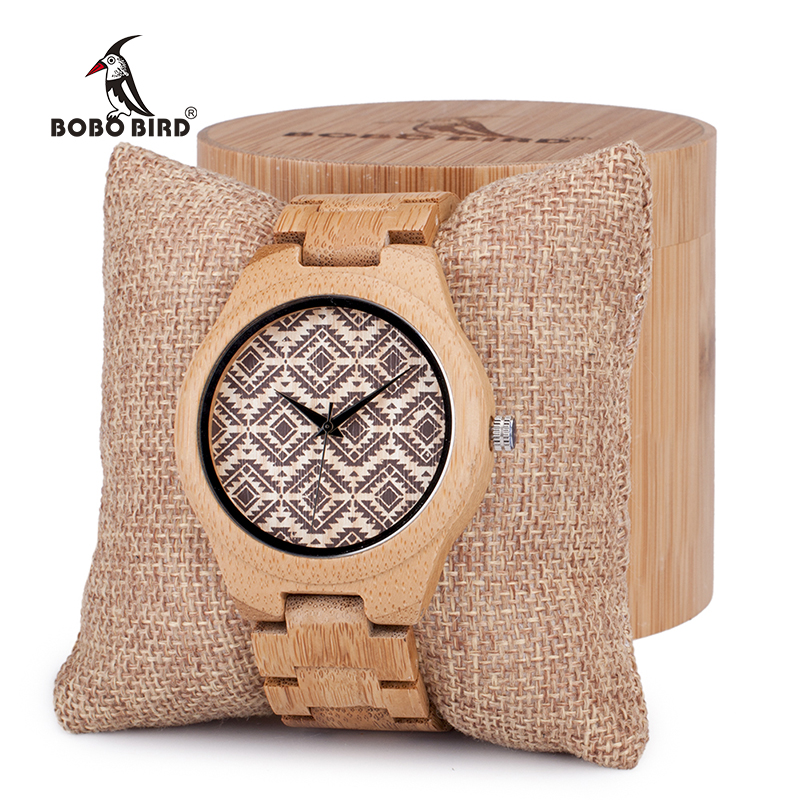 BOBO BIRD Naturally Hypoallergenic Minimalism Luxury Simplicity Bamboo Wooden Watches With All Wood Bamboo Strap erkek kol saat