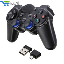 New Owllon Wireless Gaming Joypad Controller 2.4GHz Gamepad With Micro USB OTG Converter Adapter For Android Tablets PC TV Box(China)