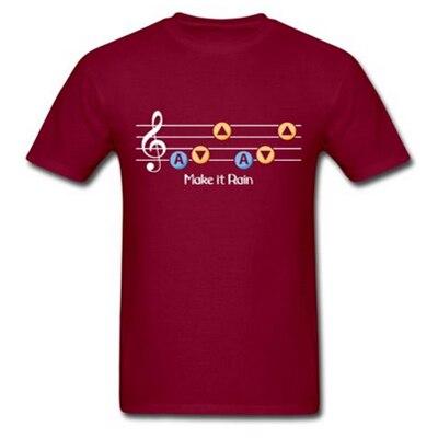 Swag Adult Man Shirt Legend of Zelda Make it Rain Men's T-Shirt Tee Ocarina of Time Song of Storms Custom Tee Shirts