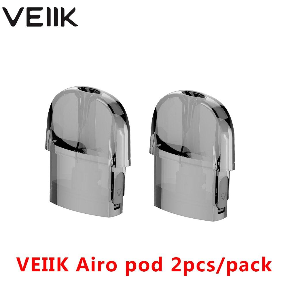 2pcs Vape Cartridges For VEIIK Airo Pod Kit 1.2 Ohm Coil & 2ml Capacity E Cigarette Vape Pod System Cartridges