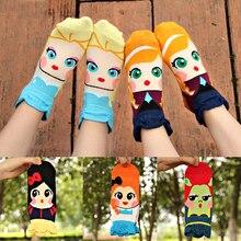 Popular Creative 1 Pair Lovely Girls Student Cartoon Princess Cute Dolls Cotton Blends Short Low Cut Ankle Socks