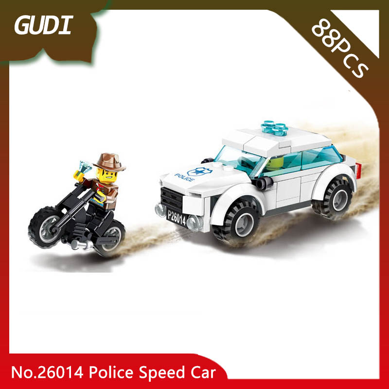 Doinbby Store 26014 88Pcs Police Series Police Speed Car Model Building Blocks Set Bricks Children For Toys Wange Gifts wange building blocks toys for children gifts architecture series fontana di trevi of roman 667pcs bricks home decor no 7014