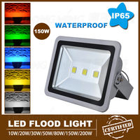 1pcs high lumen 10000LM led flood light bulbs AC85 265V led spotlight 150W led outdoor flood light warm white IP65 waterproof
