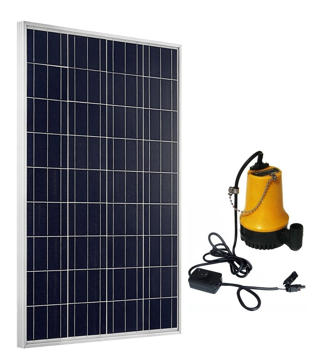 ECO-WORTHY Solar Powered Pump Kit: 100W Solar Panel with Water Pump for Garden Pond Fountain Pool 3 years guarantee solar wells pumps made in china solar pool pump kit