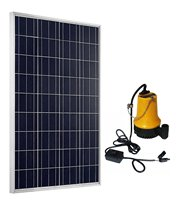 ECO WORTHY Solar Powered Pump Kit: 100W Solar Panel with Water Pump for Garden Pond Fountain Pool