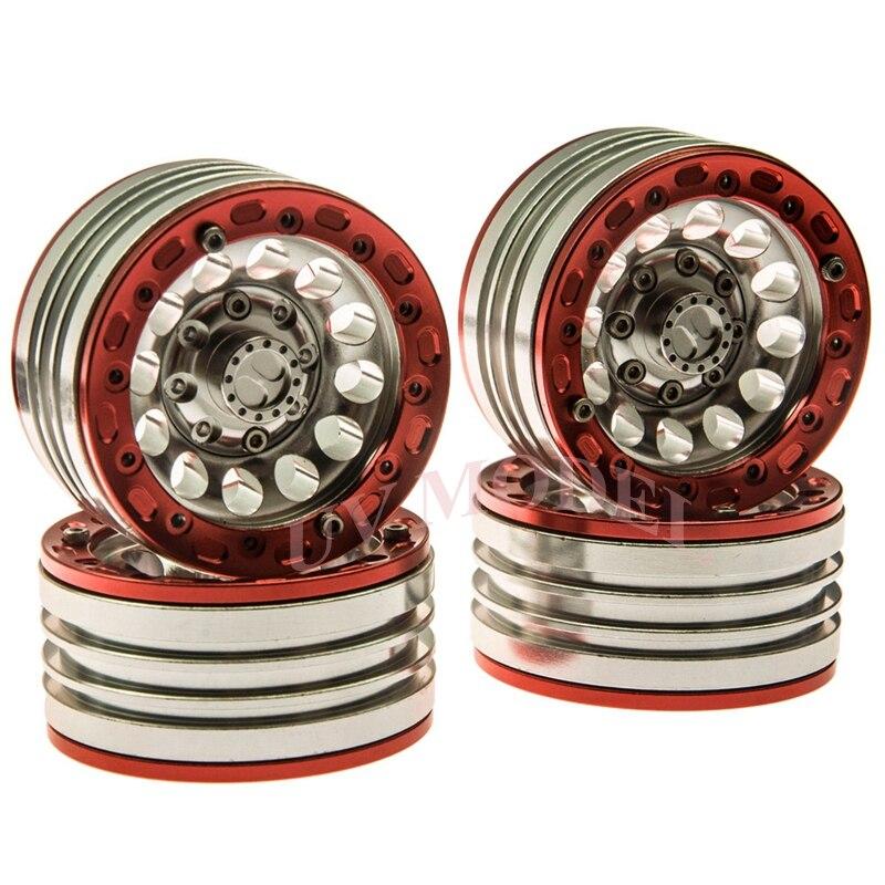 ᗖ4 piezas 1,9 Beadlock llantas de rueda para RC 1:10 camión Rock ...