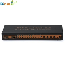 Superior Quality UHD 4K*2K HDMI 6×2 3D HDTV HD True Matrix 2.0 Switch Splitter W/ IR ARC PIP N2K9 Jan12