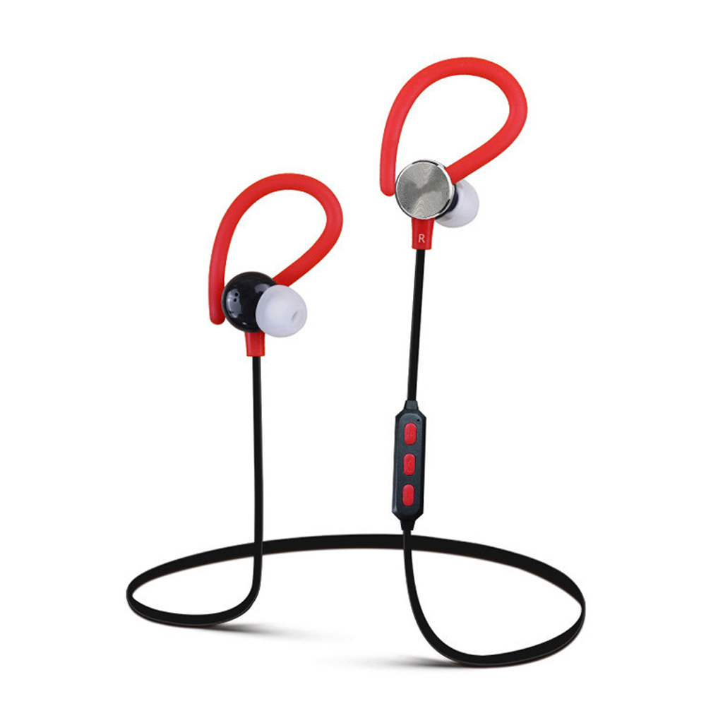 Sweatproof Bluetooth Earphone Ear Hook Sport Wireless 3D Stereo Earphones Noise Cancelling with Microphone for Smart Phone 2016 white and black joway h 08 wireless noise cancelling voice control sports stereo bluetooth v4 0 earphones with microphone