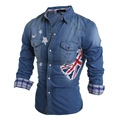 new men's long-sleeved shirt Slim cotton denim shirts men casual jacket Autumn 8004
