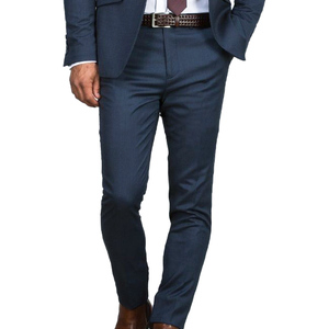 Image 2 - Prachtige Slanke Donkerblauw Wedding Suits Voor Mannen Custom Made Mannen Blauw Pak 2019 Fashion Style Pakken TAILORED Blauw smoking