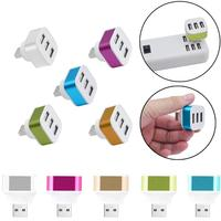 2017 New Mobile Phone Charger 3 Ports USB 2.0 Rotate HUB Splitter Adapter for PC Desktop Notebook Expansion Dropshipping Mobile Phone Chargers