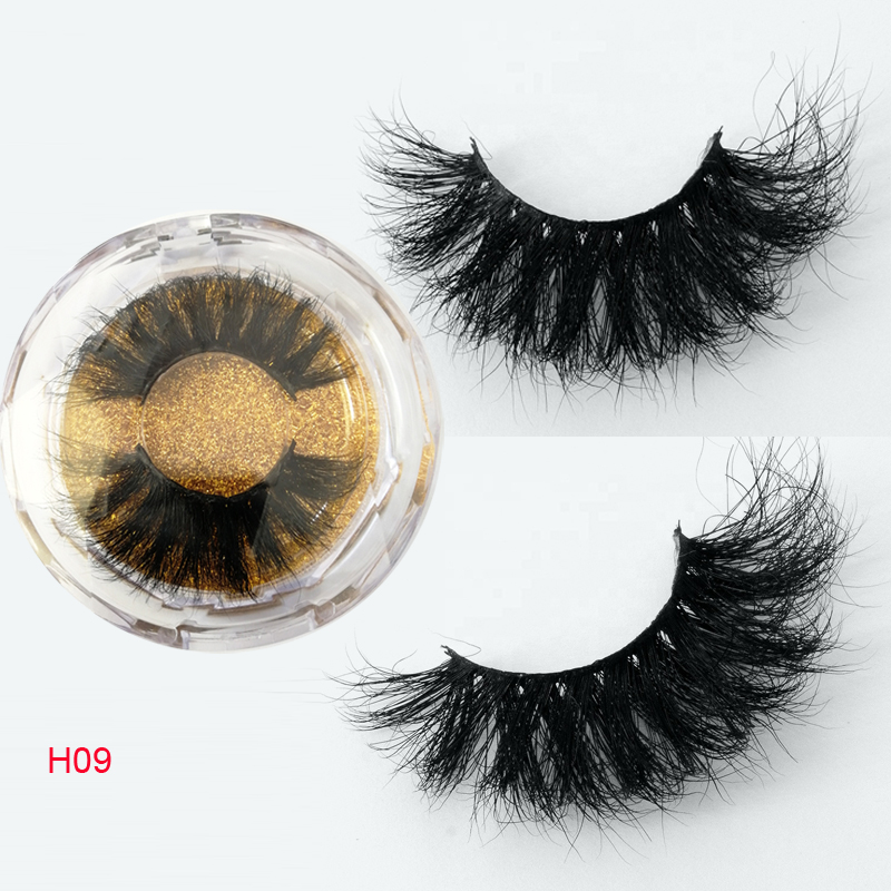 Luxury 25mm Siberian Mink Eyelash Strips With Custom Logo Wholesale Cruelty Free Mink Eyelash 3D Mink Lashes 25mm Mink Eyelashes