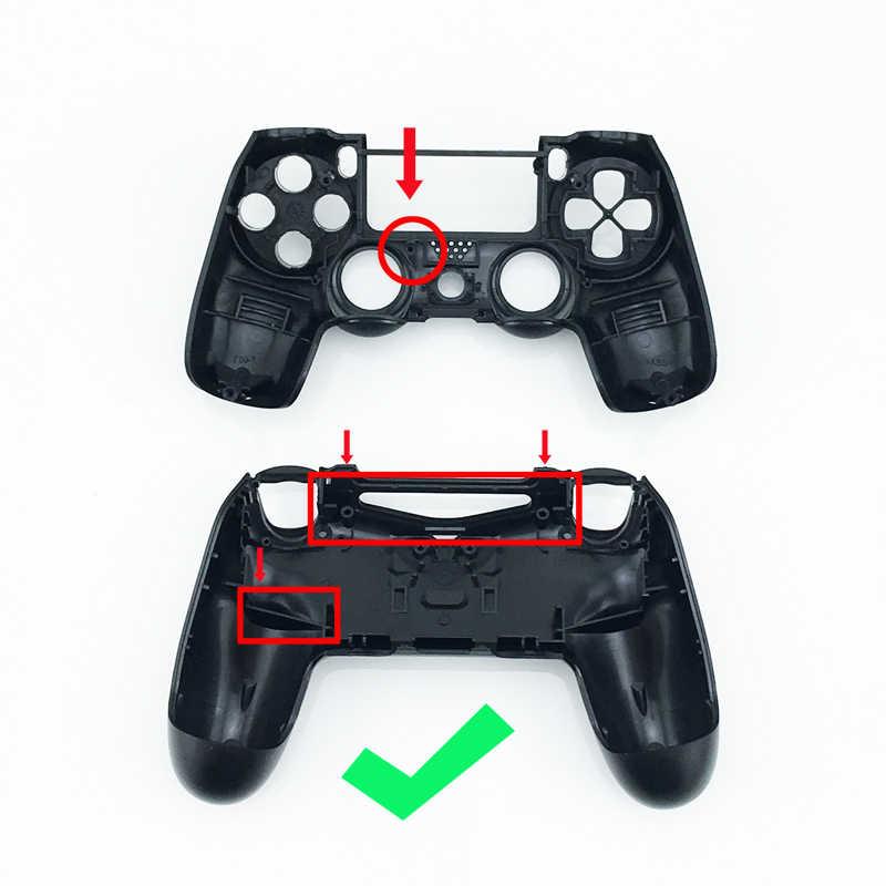 Для Dualshock 4 проводящих резиновых L1R1 L2R2 пружинных кнопок с палочками для пальцев, светильник, наклейка для Play Station 4 PS4
