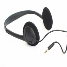 Linhuipad Economical Stereo headphones 3.5mm disposable headset for gyms ,hospital ,library ,100pcs/lot