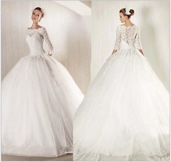 Luxurious Wedding Dresses A line Ball Gown Chiffon Vestido Robe De ...