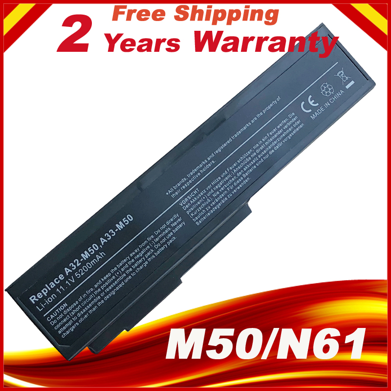 Battery For Asus N53 N53D N53E N53F N53J N53JC N53JE N53JF N53JG N53JI N53JL N53JN N53JQ N53JR N53JT N53JV A32-M50 A33-M50 cpu cooling fan for asus n53 n53j n53jf n53jn n53s n53sv n53sm n73j n73jn ksb06105hb ab20 am14 laptop fan cooler