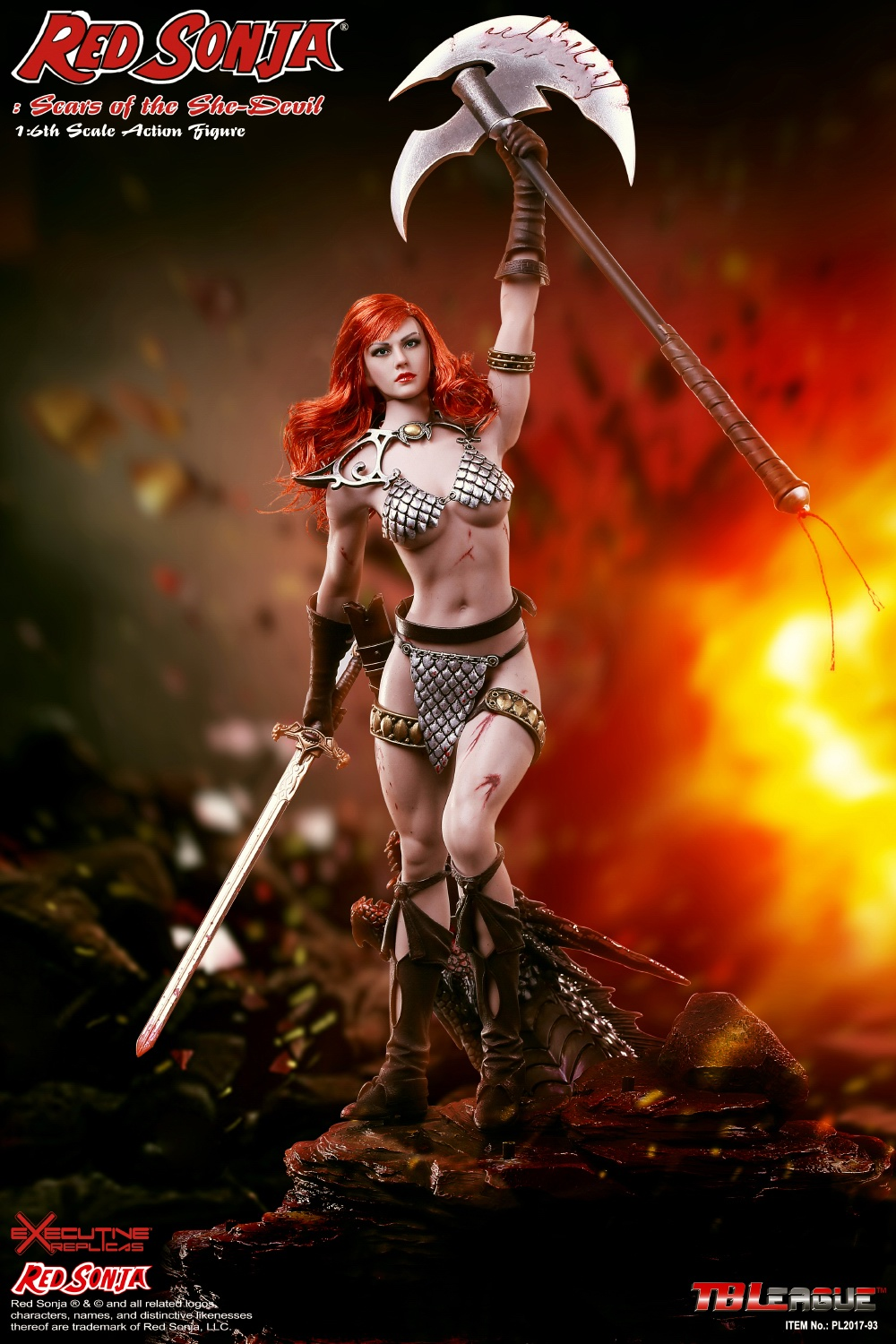1/6 scale figure doll Red Sonja Scars of the She Devil with seamless body 12 action figure doll Collectible model Plastic toy 1 6 scale figure doll terminator3 rise of the machines fembot t x 12 action figure doll collectible model plastic toy