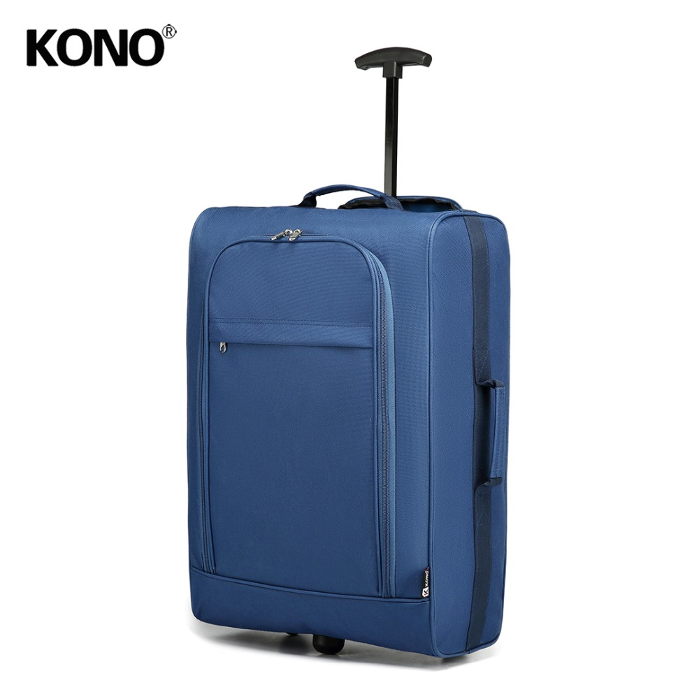 KONO Shell Trolley-Case Travel-Bags Hand-Luggage Oxford 2-Wheels 20inch Light-Weight