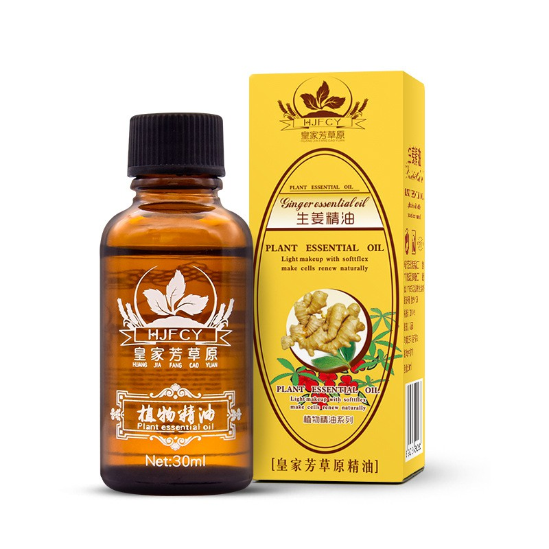 30 ml Gingembre Huile Essentielle Thermique Corps Gingembre Huile Essentielle Pour Gratter Thérapie SPA Drop Shipping