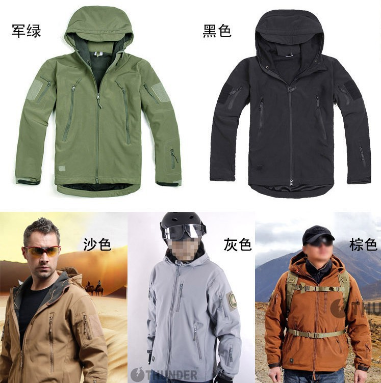 Outdoor TAD Men Tactical Softshell Waterproof Jacket Male Sports Camping Hiking Combat Outfit Coats Clothes Freeship In Jackets From