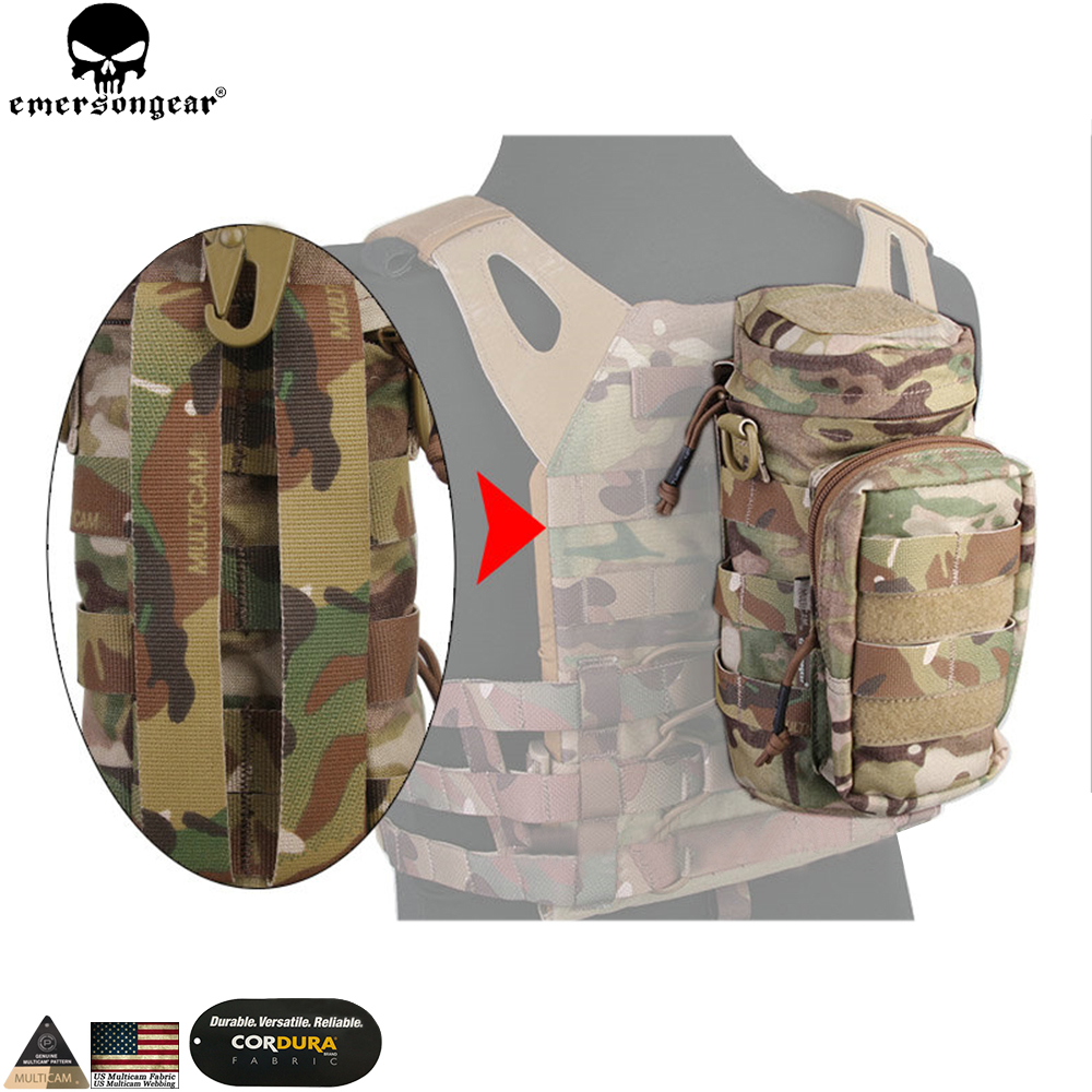 EMERSONGEAR Molle Bag Tactical Backpack  Multiple Utility Bag Hunting Combat Gear Emerson Pouch Multicam Black Pouch EM9275