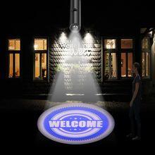 Светодиодный прожектор, рекламные огни, добро пожаловать с Рождеством, логотип 110V 220V E27, бар, гостиничные пленки, индивидуальный дизайн, Прямая поставка